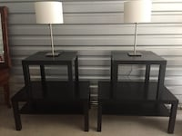 """2 coffee tables and 2 end tables.  Great deal! $75.  Coffee tables 18""""H x 36""""L x 22""""W  End tables 18""""H x 22""""W x 22""""L"""