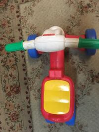 Toddler's red and white ride on toy