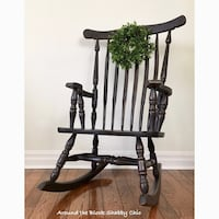 Extra large shabby chic rocking chair