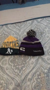 Black Sac kings and yellow a's beanies Reno, 89502