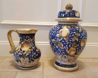 Beautiful Ceramic Pitcher & Ginger Jar