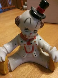 1980s classic clown figurine