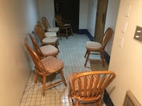 Oak Chairs made by Richardson Brothers  high quality and solid $10 ea Surrey, V3V 7L9