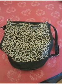 Leopard Pull String Purse