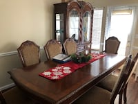 Dinning Room Table With Chairs Plus A China Cabinet ATLANTA