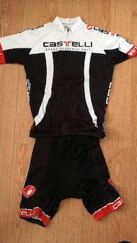 black red and white casttelli full zip jacket and shorts Vancouver, V6K 2L3