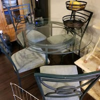 Wrought Iron Round Glass Dining Table  w 4 chairs Rancho Santa Margarita, 92688