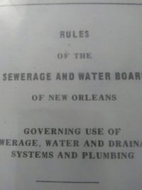ANTIQUE NEW ORLEANS SEWERAGE&WATERBOARD BOOK Metairie, 70006