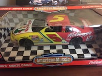 red and yellow #5 Chevrolet Monte Carlo stock car scale model Springfield, 45503