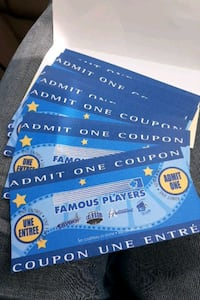 Admit one coupons