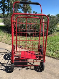 Red metal cart  Ponce Inlet