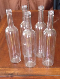 5 Tall Glass Bottles for Crafting/Decor Watsonville