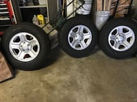 5 Tires and wheels from 2013 Jeep Wrangler Lombard, 60148