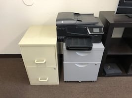 2 2 Drawer File Cabinets And Printer