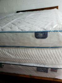 white and blue mattress with box spring Opa-locka