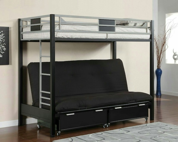 Futon Bunk Bed With Storage Drawers New