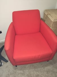 red leather padded sofa chair 213 mi
