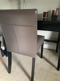Crate and Barrel leather dining or office chair