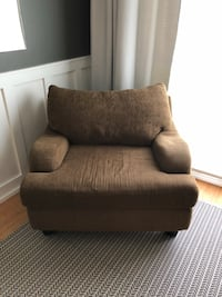 brown fabric sofa chair with ottoman Cumming, 30041