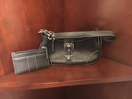 blackcoach leather hobo bag with matching wallet