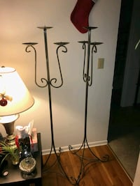 3 prong free standing candle holders Pawtucket