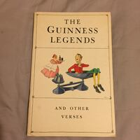 The Guinness Legends And Other Verses Booklet 1934 Paperback   London, N6