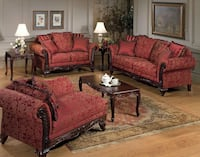NEW 2pc Serta® Vibrant Red Living Room Collection