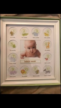 Baby First Year Frame - C.R. Gibson Stepping Stones - Monthly Pictures Sterling, 20164