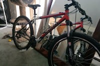 red and black hardtail mountain bike Victoria, V8Z