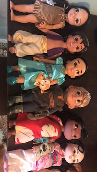 Disney Animator Doll Lot of 7