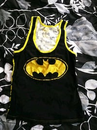 black and yellow Batman print crew neck shirt Woodbridge, 22192