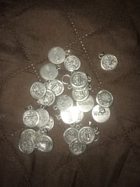 round silver-colored coin lot Los Angeles, 91401
