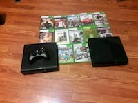 black Xbox One with controller and game cases Stanton, 90680
