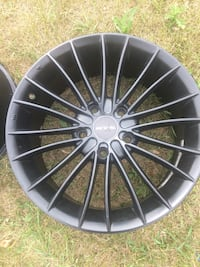 black multi-spoke car wheel Beaumont, T4X 1A7