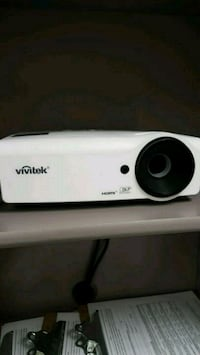 white and black Vivitek projector