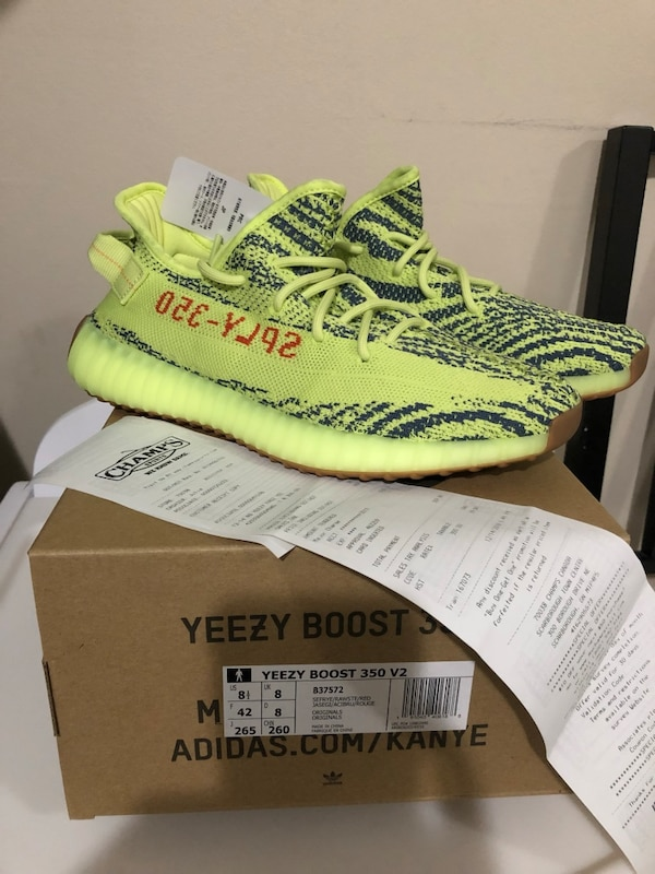 b9a2c6496f475 Used Yeezy 350 V2 Semi Frozen Yellow