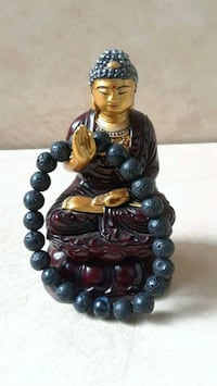 Black Dragons Vein Bead Lava Stone Yoga Bracelet