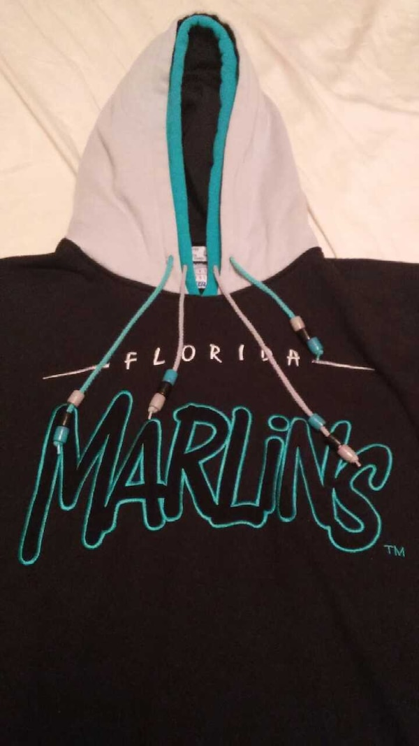 separation shoes 813ac 84cf6 Throwback Florida Marlins Double Hoodie (Large)