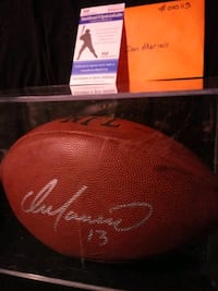 Dan Marino Autographed Football with authentication Louisville, 44641