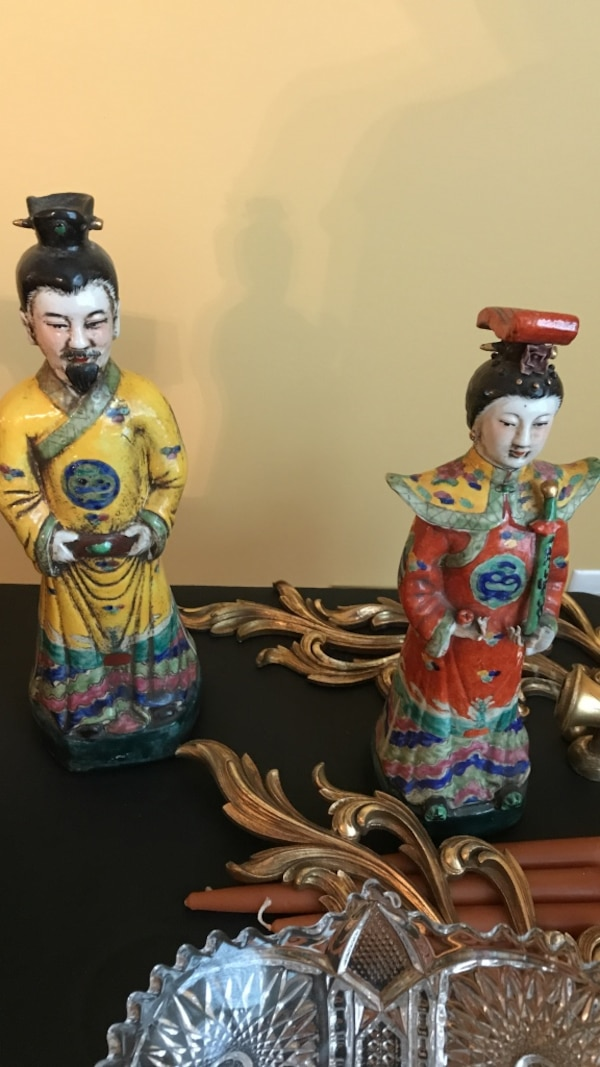 Asian figures and moving sale