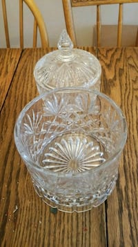 clear cut glass bowl with lid Montclair, 22025