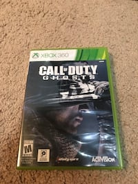 Xbox 360 call of duty ghosts game and case Bristow, 20136