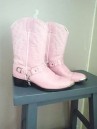 pair of pink leather cowboy boots Nevada, 50201