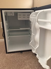 white single-door refrigerator