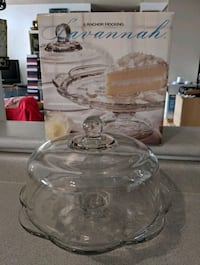 Glass Cake Stand with Glass Cover Mississauga, L4Z 3N5