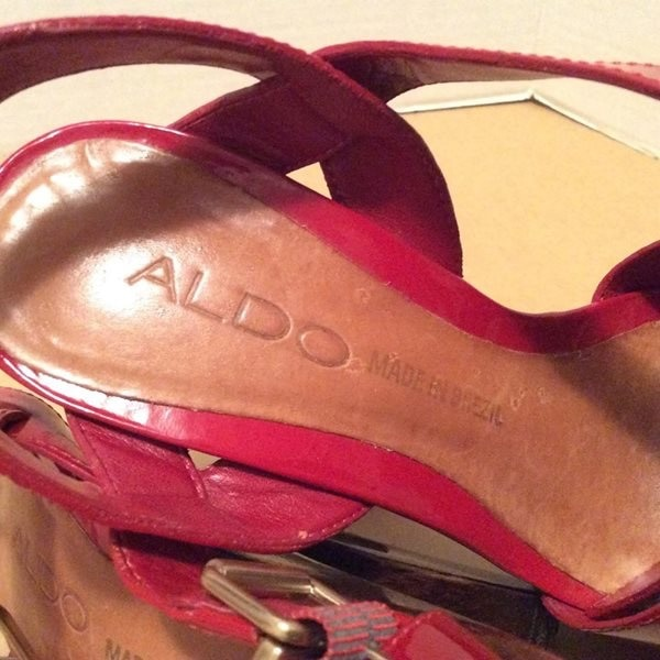 b0b3b04e6ec Used ALDO PATENT LEATHER PLATFORM SHOES (size 5) for sale in ...
