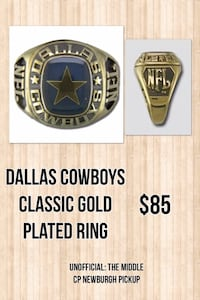 Dallas Cowboys Classic Gold Plated Ring Newburgh, 47630