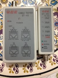 Cable and phone line network test kit