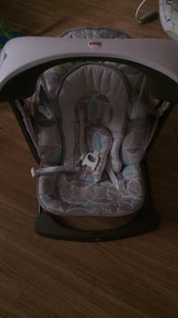 baby's gray and white bouncer 301 mi