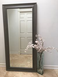 Full Length Mirror with Grey Solid Wood Frame   Irvine, 92606